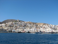View of Ermoupolis, the Cyclades largest city