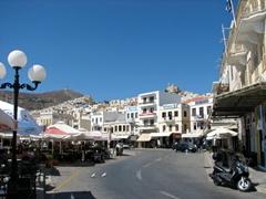 The main street that skirts Ermoupolis's waterfront