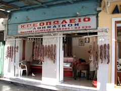 Fresh sausages for sale