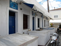 The empty fish market; Spetses Town