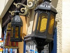 Lanterns galore; souvenir shop in Spetses Town