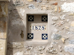 Tiled house number sign; Spetses Town