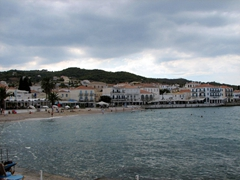 View of Plateia Agiou Mama; Spetses Town