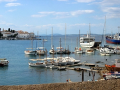 Another view of the old harbor, a twenty minute walk from Spetses Town