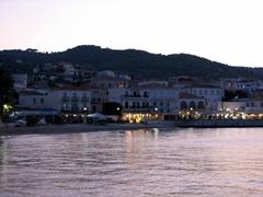 Agios Mamas beach at night