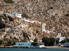 If you are feeling energetic, hike these stairs to reach one of Sifnos's 365 churches; near Kamares