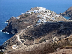 Another view of Kastro, the gorgeous white-washed village sits upon a domed rock that towers above the sea