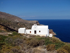One of Sifnos's 365 churches; overlooking the east coast