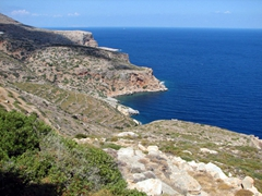 View of Sifnos's rugged east coast