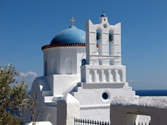Cupola and bell tower of Panagia Poulati