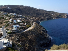 Looking out from Kastro towards Panagia Poulati