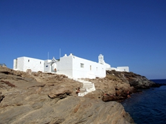 The sea side view of Chrysopigi Monastery
