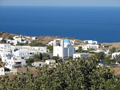 A distant view of the Church of Agia Yannis