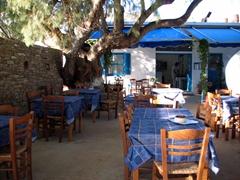 Manolis Restaurant in Vathy bay has Sifnos's best clay oven food