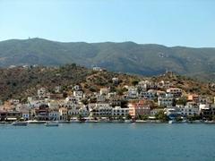 View of neighboring Galatas