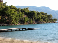 Another view of Poros's best beach, Russian Bay