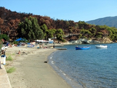 Poros's only mini-resort is at Neorion Beach, complete with beach side tavernas and a water sport center