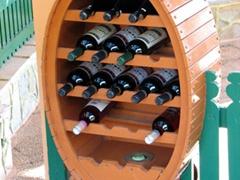 Bottles of wine tastefully displayed