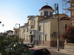 A waterfront church; Poros Town