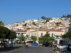 Navigating the streets of Poros Town was a joy...not much traffic here!