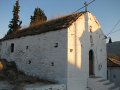 An old church greeted us at the top of the hill; Poros Town