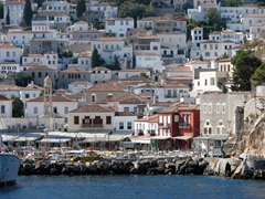 Hydra's harbor is quite scenic and proves very popular with visitors
