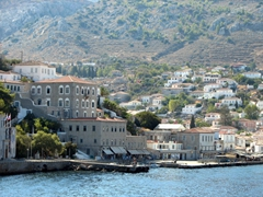 A view of the Historical Archives Museum of Hydra which houses a collection of portraits and naval oddments, with an emphasis on Hydra's role in the War of Independence