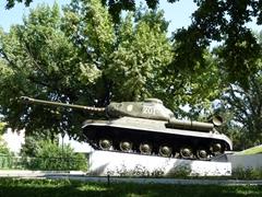 World War II tank on display in Dushanbe