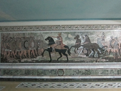 Alexander the Great wall mural in the basement of the Historical Museum of Sughd; Khujand