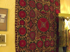 Traditional carpet on display at Khujand's Sughd Museum