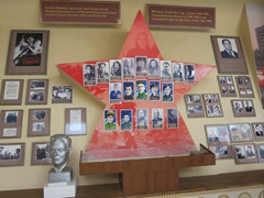 "This section of the museum focuses on Leninabad's (the former name of Khujand) involvement in the ""Great Patriotic War of 1946-1990"""