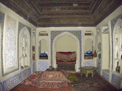 Interior of a traditional Tajik home; Sughd Museum