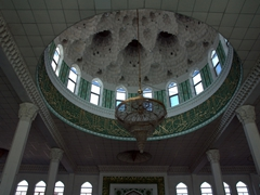 Interior dome view of Jami Mosque; Khujand