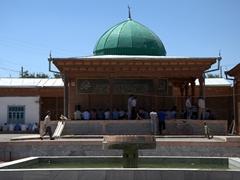 View of 18th Century Hazrat-i Shoh Mausoleum; Istaravshan