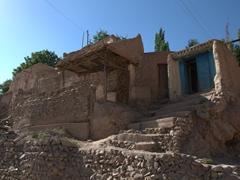 A typical rock/mud dwelling, northern Tajikistan