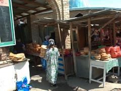 The naan (bread) section of Penjikent Bazaar