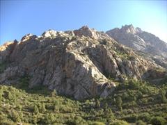 Rugged mountains surround Sarotog