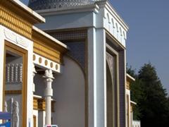 Main entrance to the National Botanical Gardens; Dushanbe