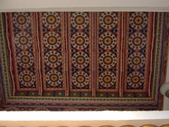 Detail of the entrance ceiling at Dushanbe's National Botanical Gardens