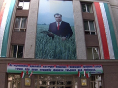 The omnipresent image of President Emomalii Rahmon (who has been in office since 1994 and is fully expected to be re-elected for another 7 year term later in 2013) can be seen throughout the entire country