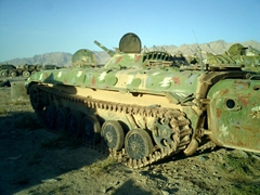 Disabled tank from the Soviet War in Afghanistan