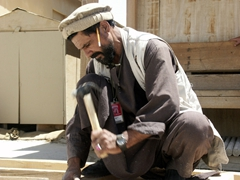 Carpenter hard at work, Bagram