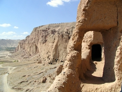 One of Bamiyan's many cave like complexes