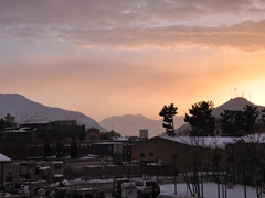 Sunset over signal hill; Kabul