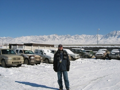 Robby in the midst of an Afghan winter