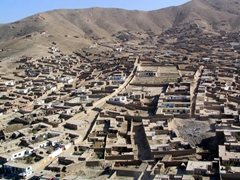 A magnificent aerial view of Kabul's outskirts