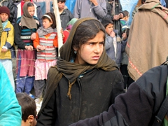 This young woman's eyes mesmerized us. They were a gorgeous hue of green; Kabul refugee camp