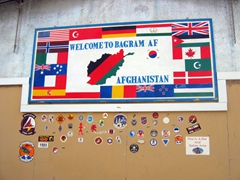 The first sign to greet us as we arrived to Bagram air base in 2004