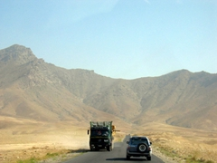 View of the highway linking Bagram and Kabul
