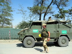 The ISAF security force; Kabul